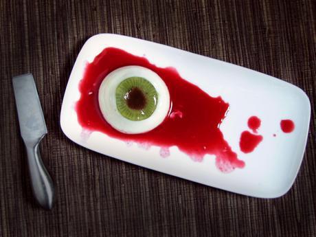 oko zombie na deser halloweenowy