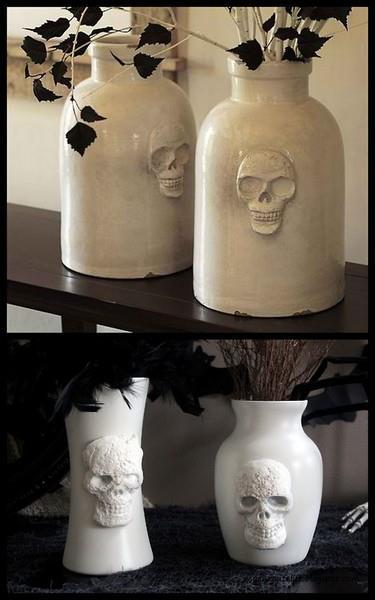 wazony z czaszkami gothic