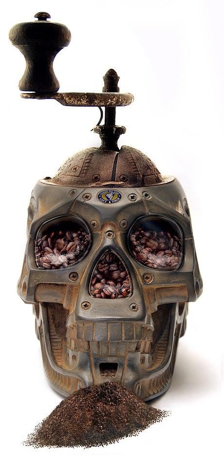młynek do kawy czaszka - gotyckie gadżety