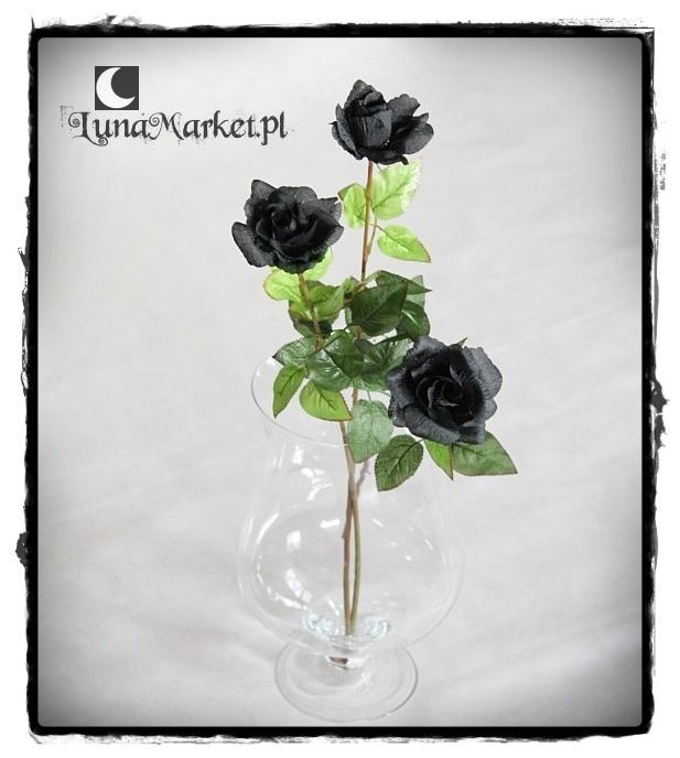 czarne róże bukiet