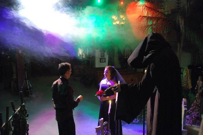 gothic ślub w stylu gotyckim, nietypowy ślub