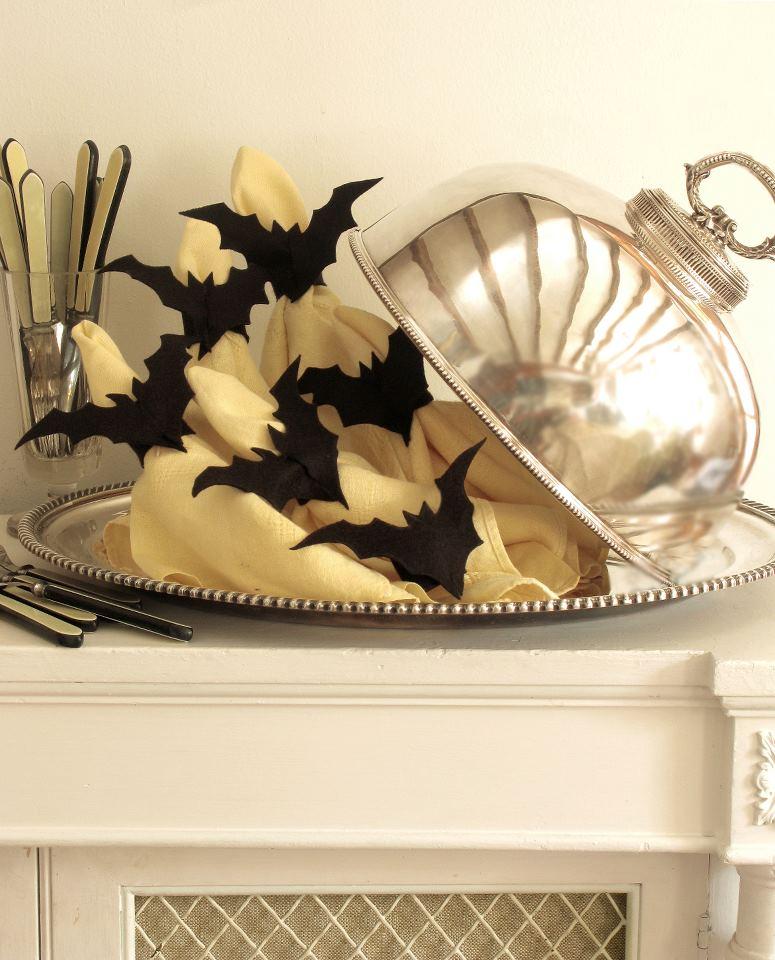 dekoracje na halloween - nietoperze origami z papieru