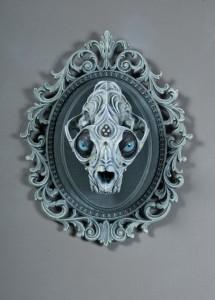 poroże czaszka nawiedzony dom styl gothic fantasy