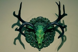 poroże jelenia gothic fantasy