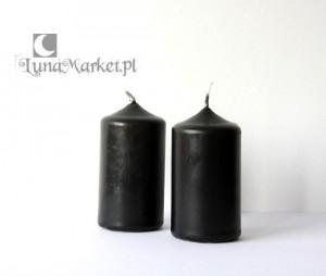 czarna swieca czarne świeczki
