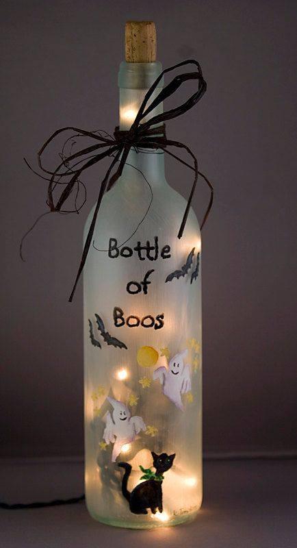 butelka z duchami dekoracja na halloween
