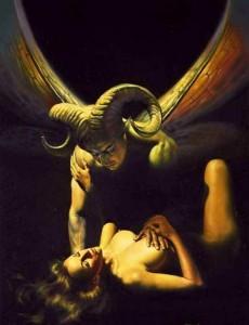 mroczny anioł demon zmora nocna
