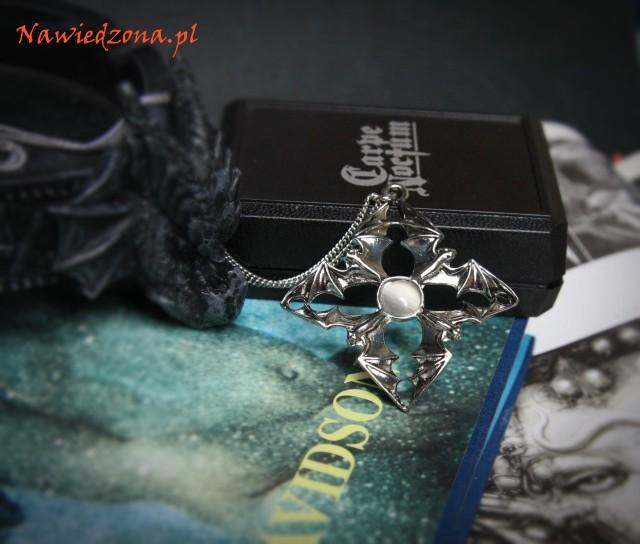 gotycka biżuteria naszyjnik z nietoperzem, wisiorek z nietoperzami