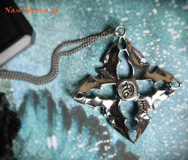 gotycka biżuteria amulety talizmany naszyjnik z nietoperzem, wisiorek z nietoperzami
