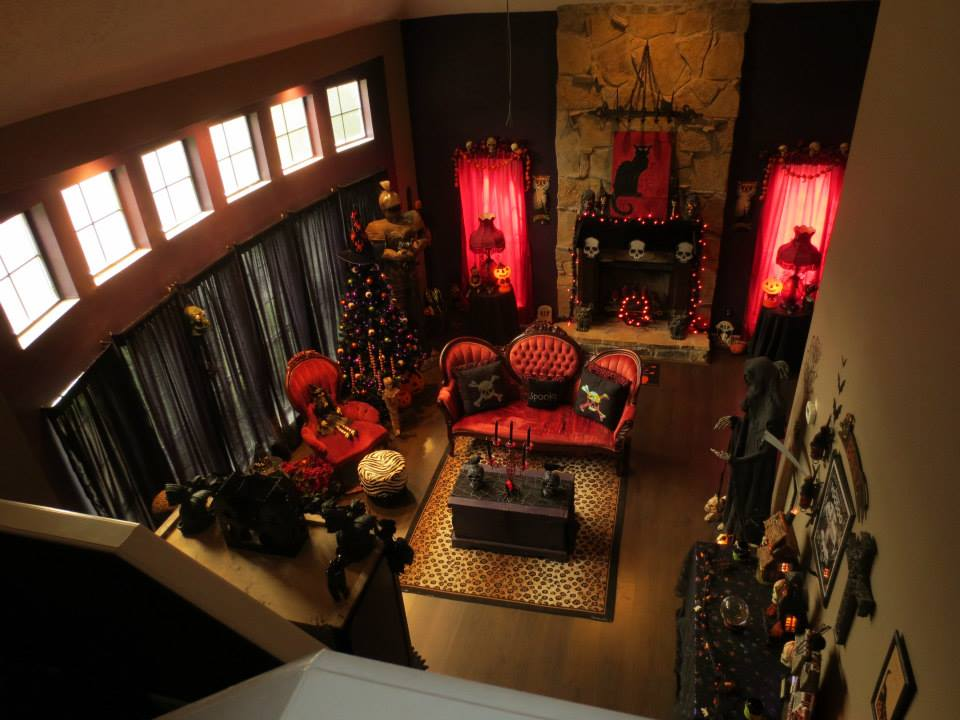 nawiedzony dom dekoracje na halloween