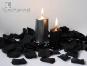 czarna świeca czarne świece