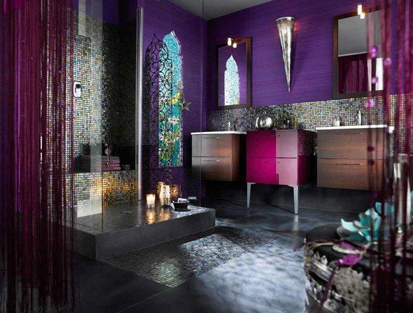 łazienka w stylu gothic
