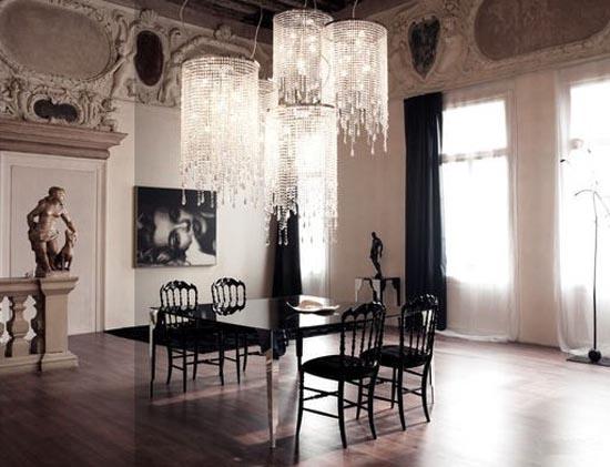 new-gothic-glamourus mroczne wnętrza, gotycka elegancja, czarny wystrój domu