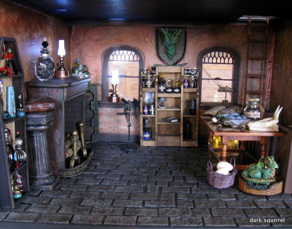 pokój ze smokami w stylu średniowiecznym
