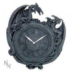 zegar ze smokami - smocze gadżety i dekoracje